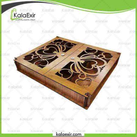 جعبه دمنوش چوبی